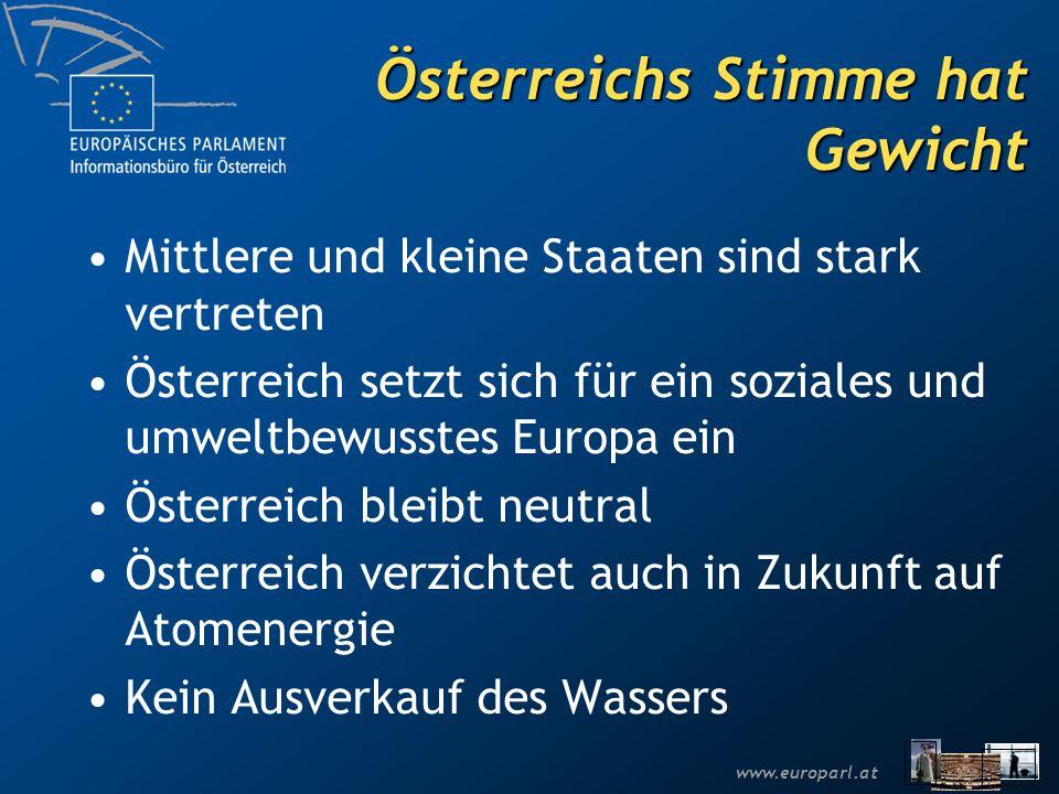 Österreichs Stimme hat Gewicht