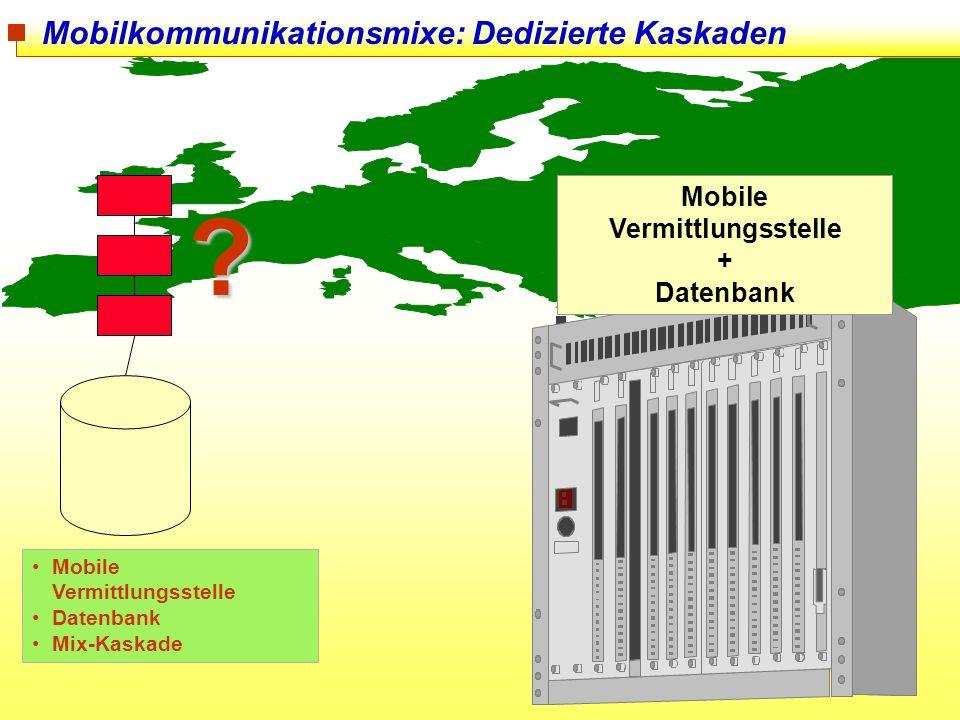 Mobilkommunikationsmixe: Dedizierte Kaskaden