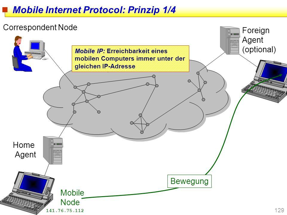 Mobile Internet Protocol: Prinzip 1/4