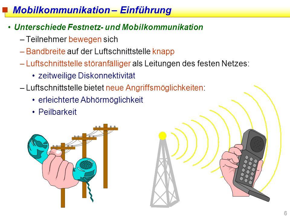 Mobilkommunikation – Einführung