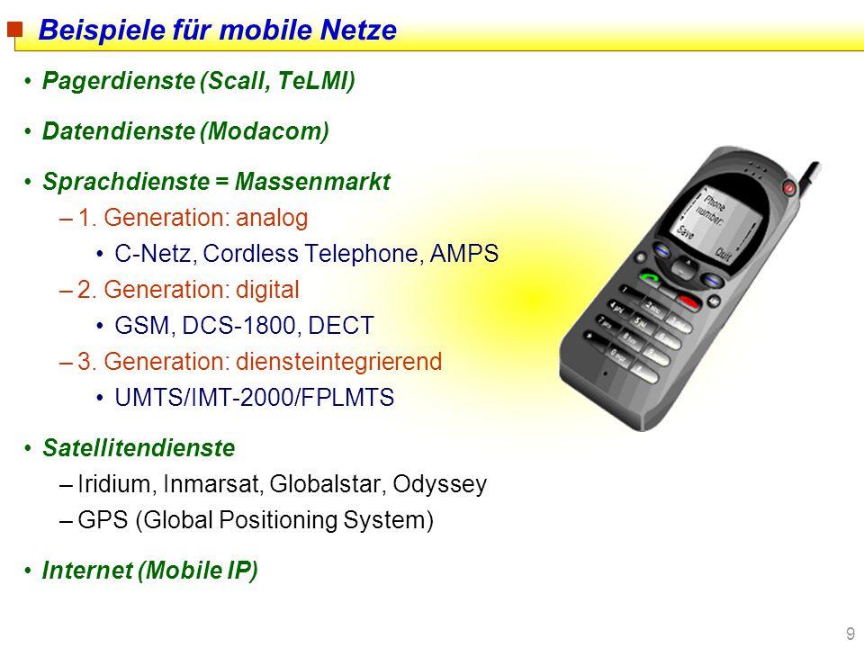 Beispiele für mobile Netze