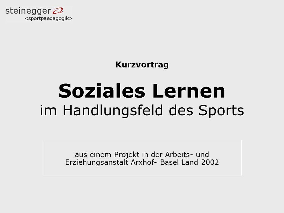 Kurzvortrag Soziales Lernen im Handlungsfeld des Sports
