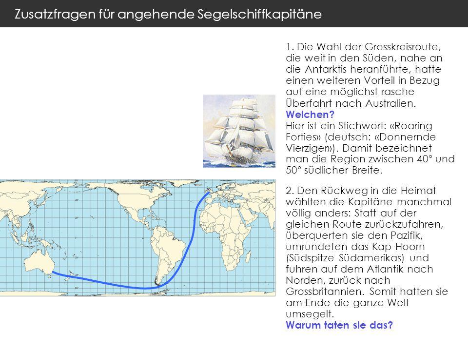 Zusatzfragen für angehende Segelschiffkapitäne