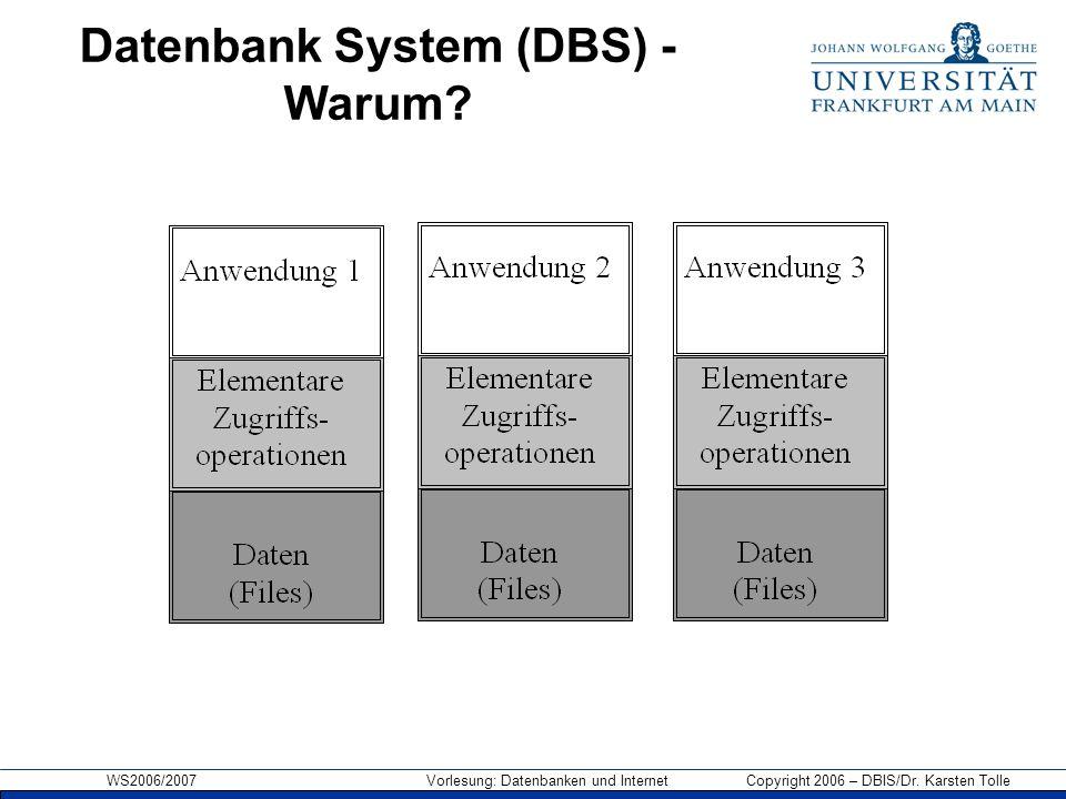 Datenbank System (DBS) - Warum