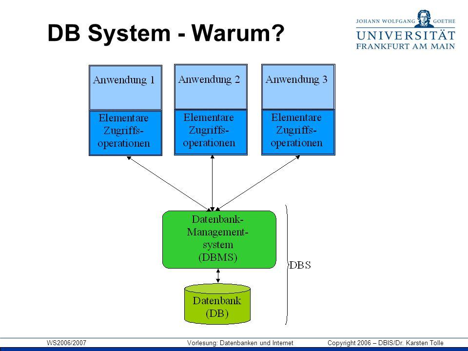 DB System - Warum