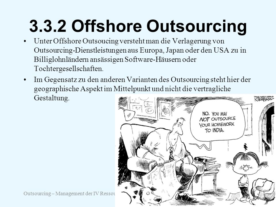 3.3.2 Offshore Outsourcing