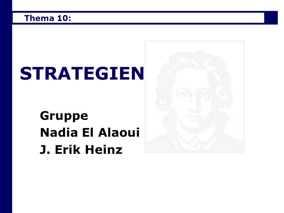 Gruppe Nadia El Alaoui J. Erik Heinz