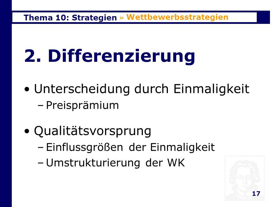 2. Differenzierung Unterscheidung durch Einmaligkeit