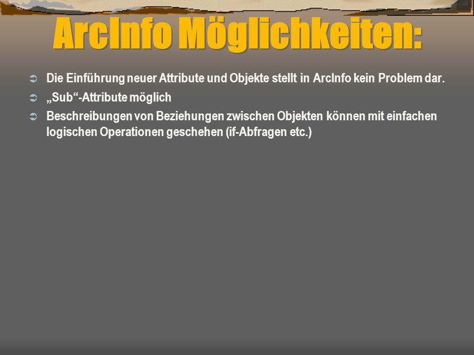 ArcInfo Möglichkeiten: