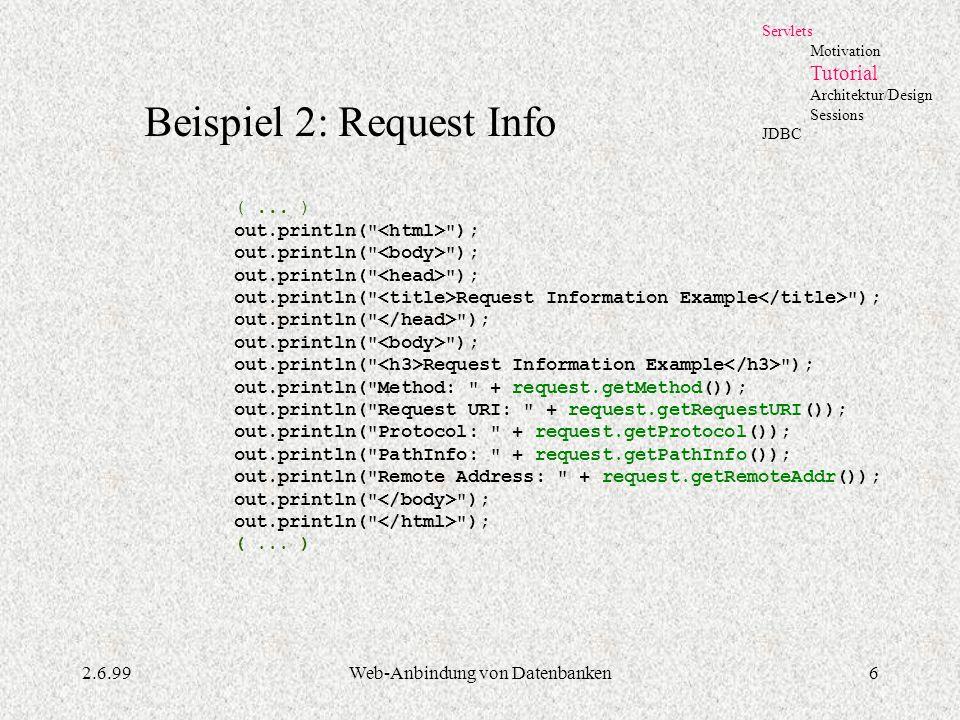 Web-Anbindung von Datenbanken