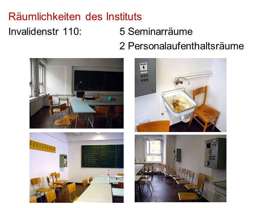 Räumlichkeiten des Instituts