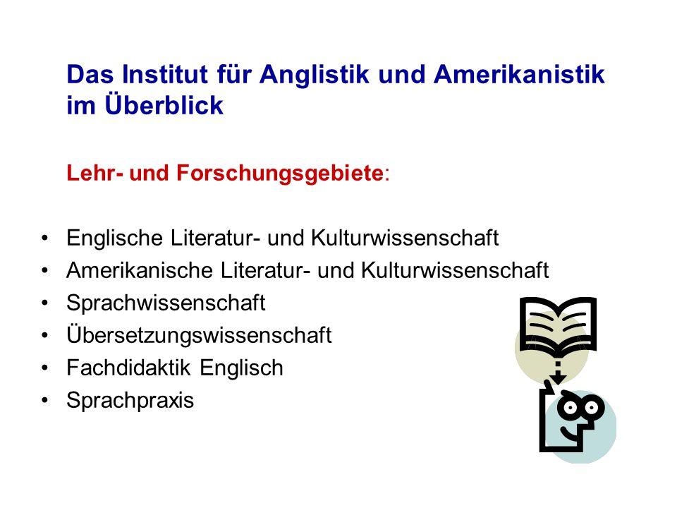 Das Institut für Anglistik und Amerikanistik im Überblick