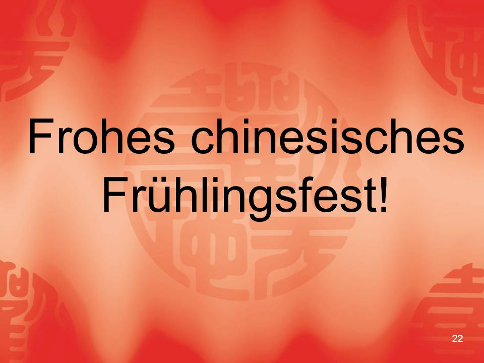 Frohes chinesisches Frühlingsfest!