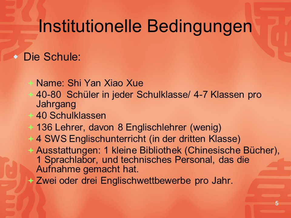 Institutionelle Bedingungen