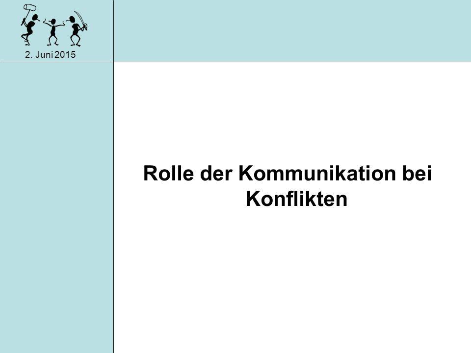 Rolle der Kommunikation bei Konflikten