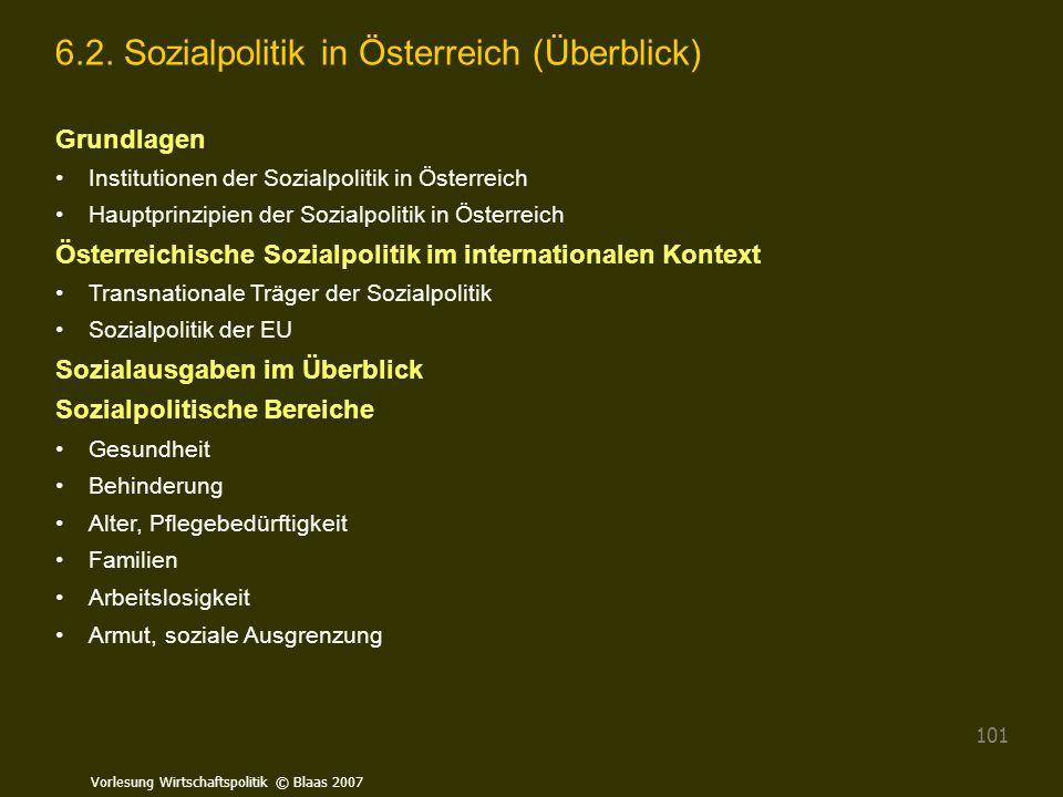 6.2. Sozialpolitik in Österreich (Überblick)