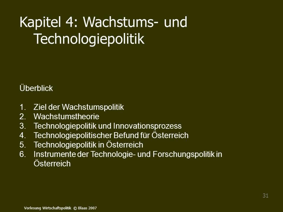 Kapitel 4: Wachstums- und Technologiepolitik