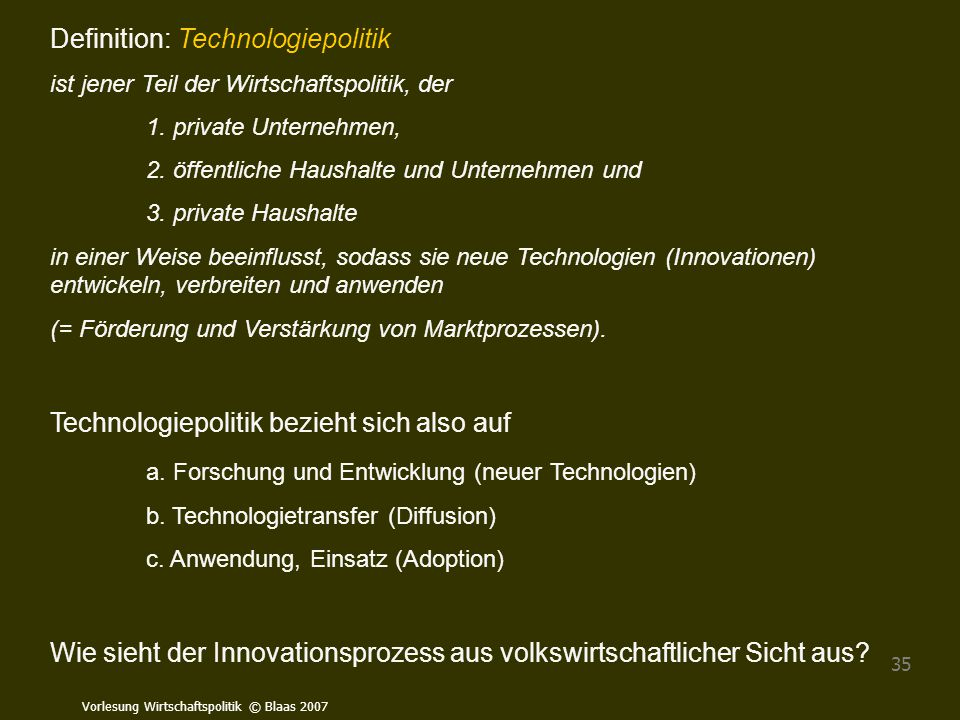 Definition: Technologiepolitik