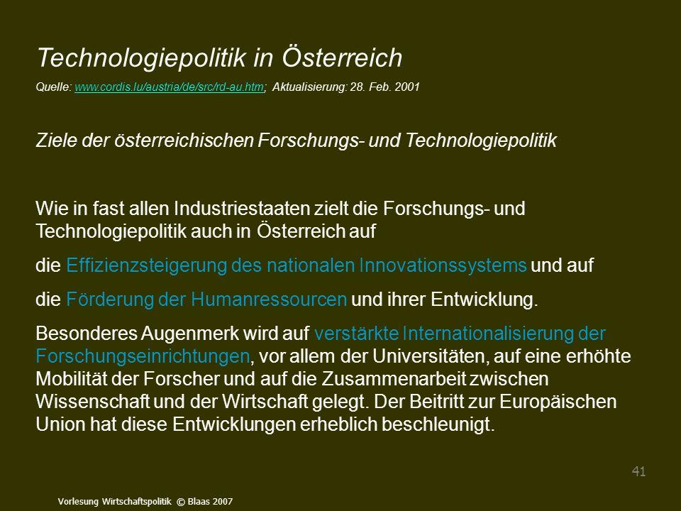 Technologiepolitik in Österreich