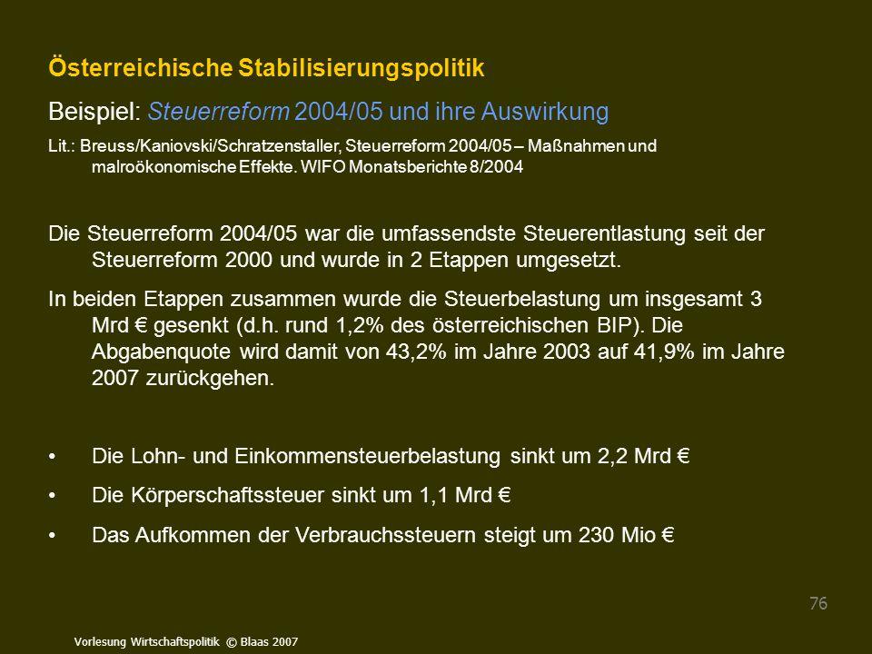 Österreichische Stabilisierungspolitik