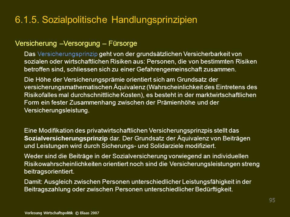 6.1.5. Sozialpolitische Handlungsprinzipien
