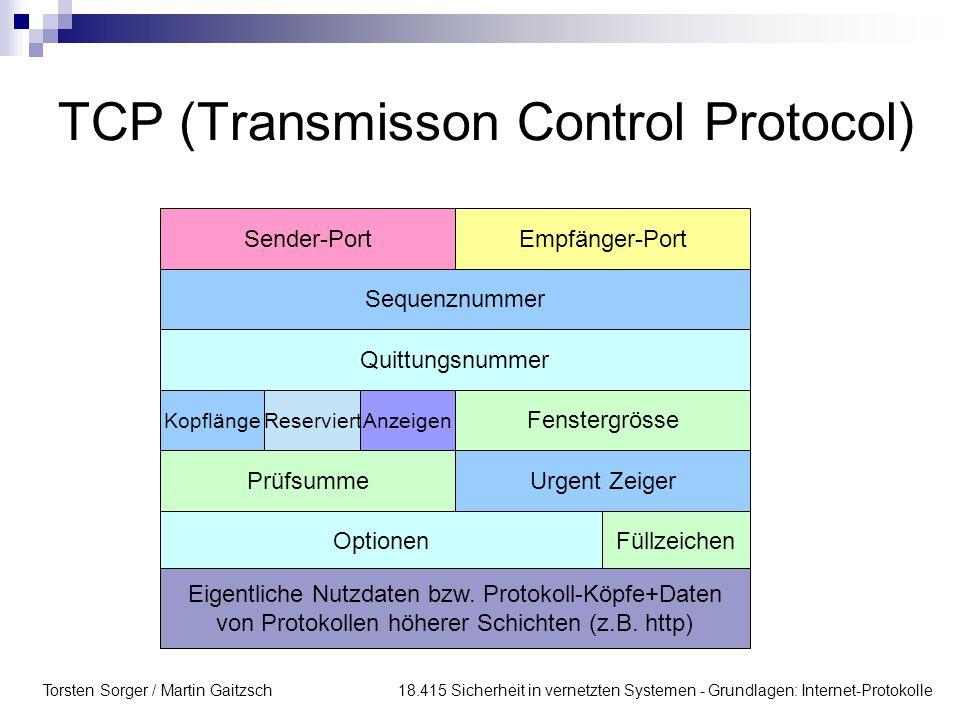 TCP (Transmisson Control Protocol)