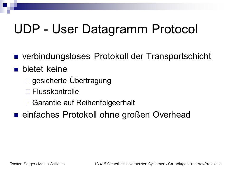 UDP - User Datagramm Protocol