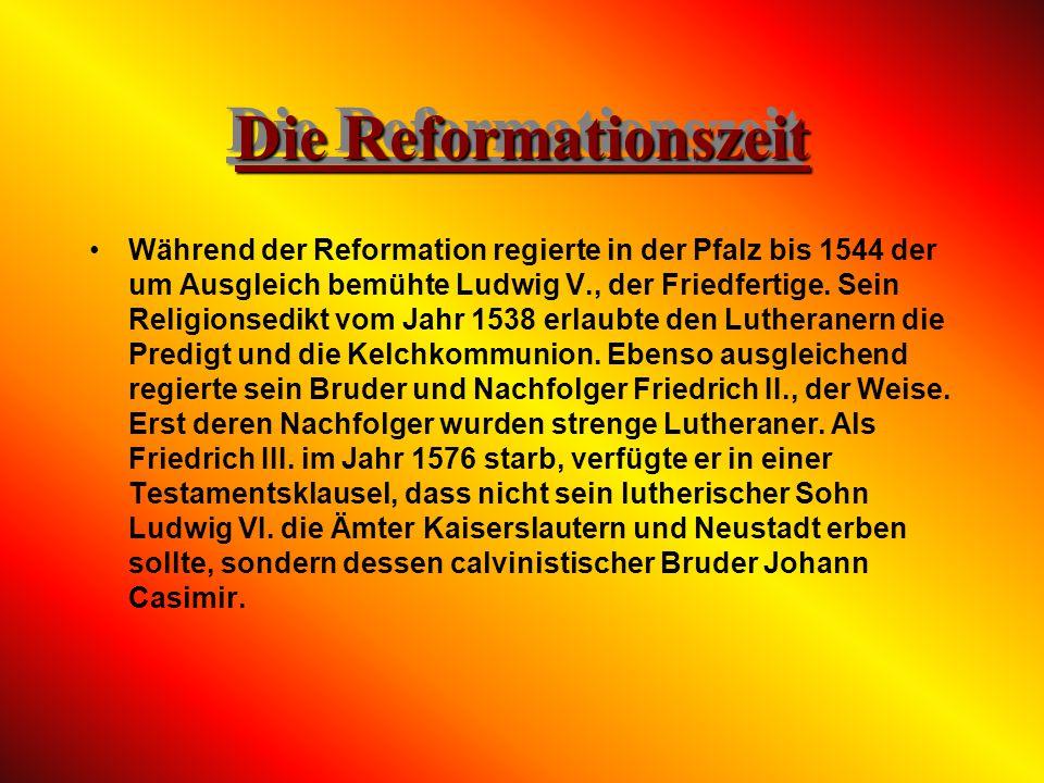 Die Reformationszeit