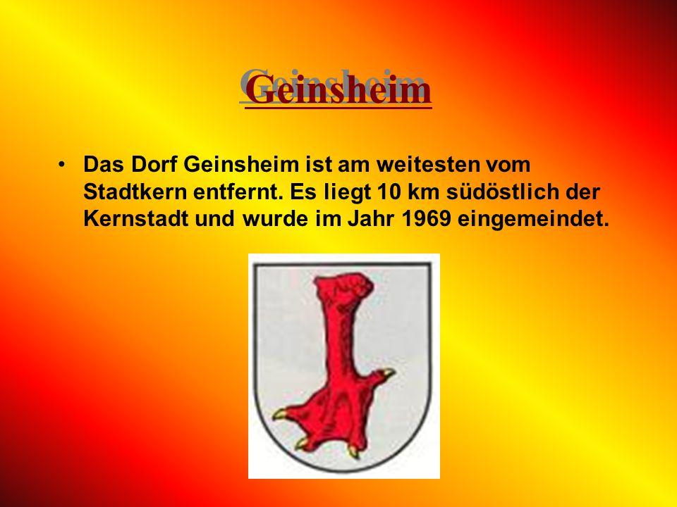 Geinsheim Das Dorf Geinsheim ist am weitesten vom Stadtkern entfernt.