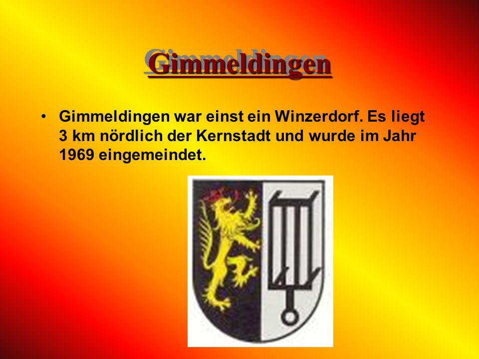Gimmeldingen Gimmeldingen war einst ein Winzerdorf.