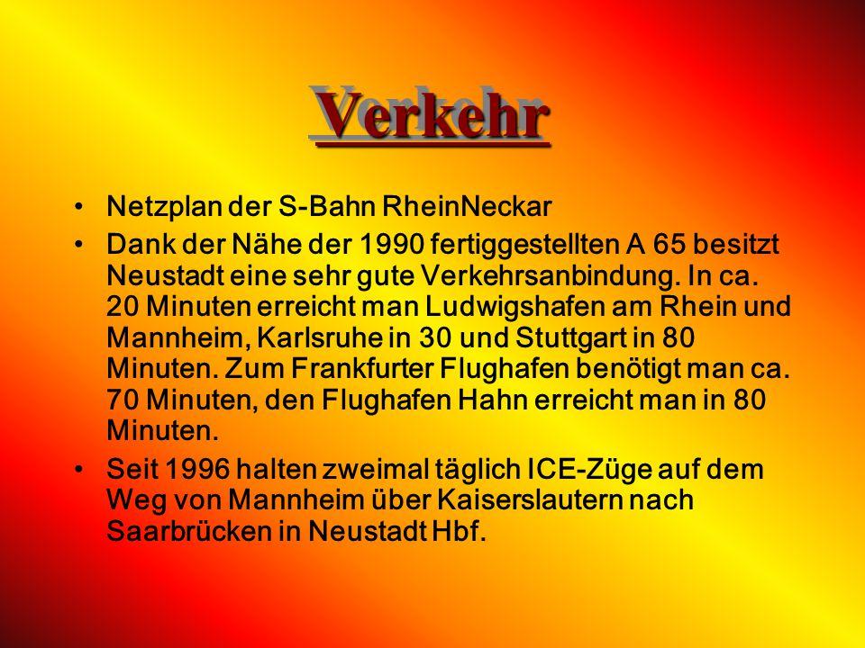 Verkehr Netzplan der S-Bahn RheinNeckar