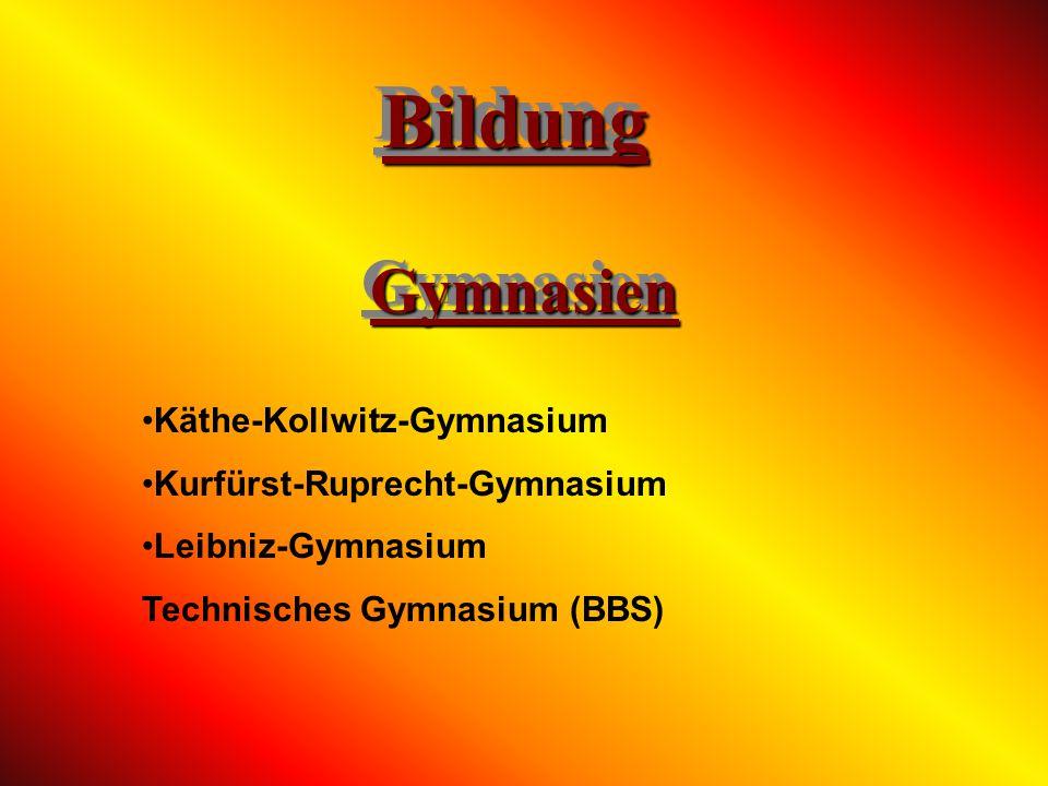 Bildung Gymnasien Käthe-Kollwitz-Gymnasium Kurfürst-Ruprecht-Gymnasium