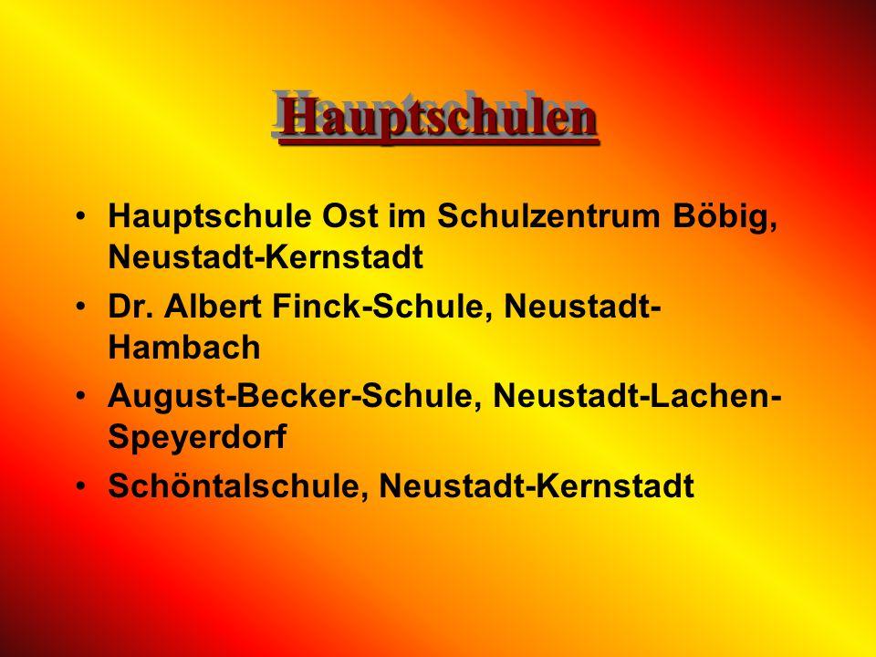 Hauptschulen Hauptschule Ost im Schulzentrum Böbig, Neustadt-Kernstadt
