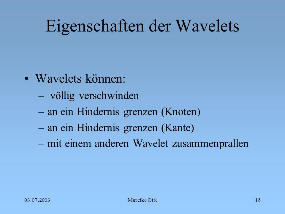Eigenschaften der Wavelets