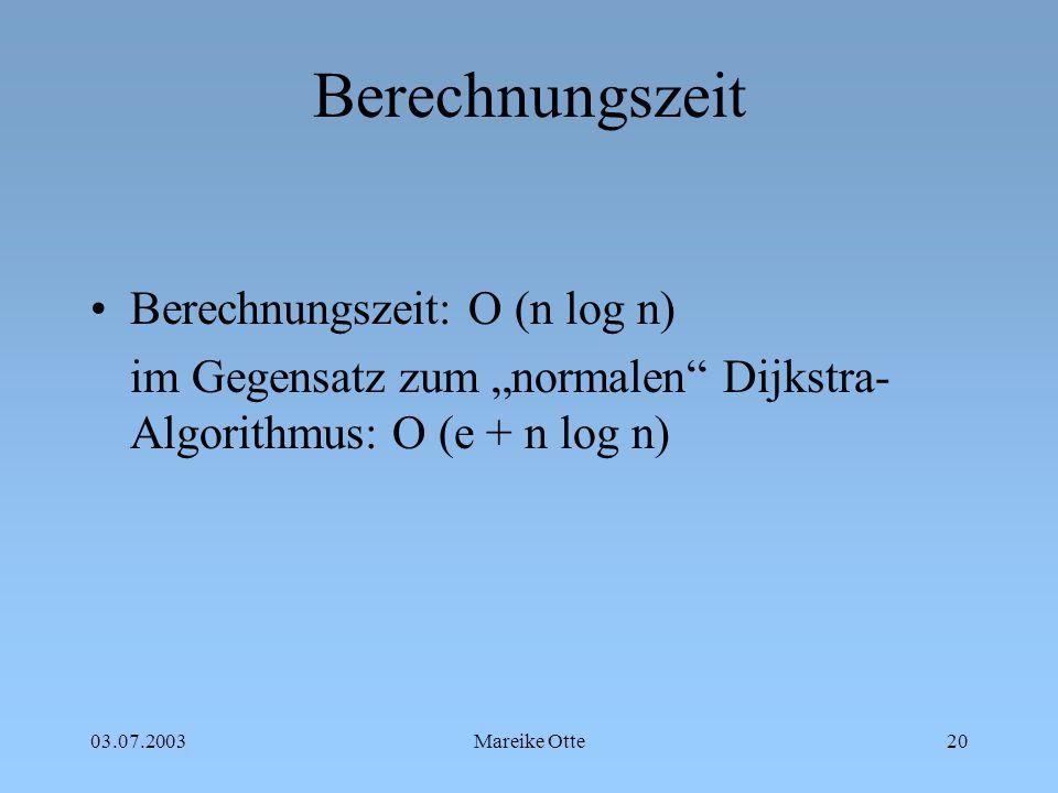 Berechnungszeit Berechnungszeit: O (n log n)