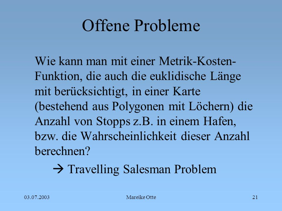 Offene Probleme