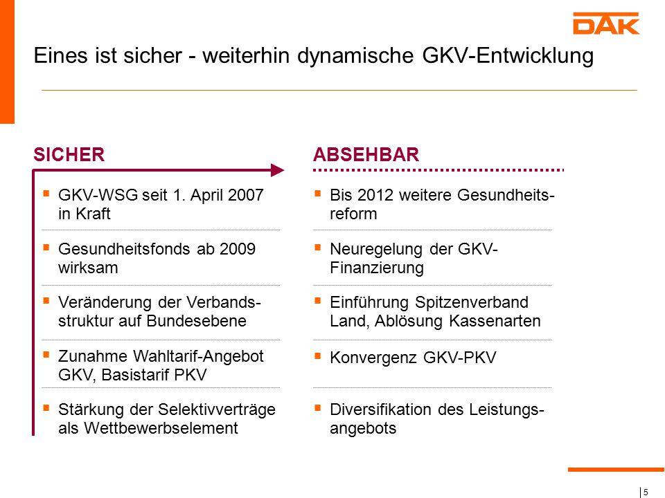 Eines ist sicher - weiterhin dynamische GKV-Entwicklung