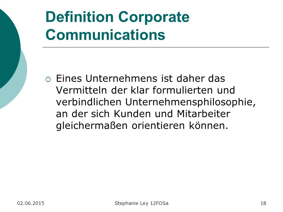Definition Corporate Communications
