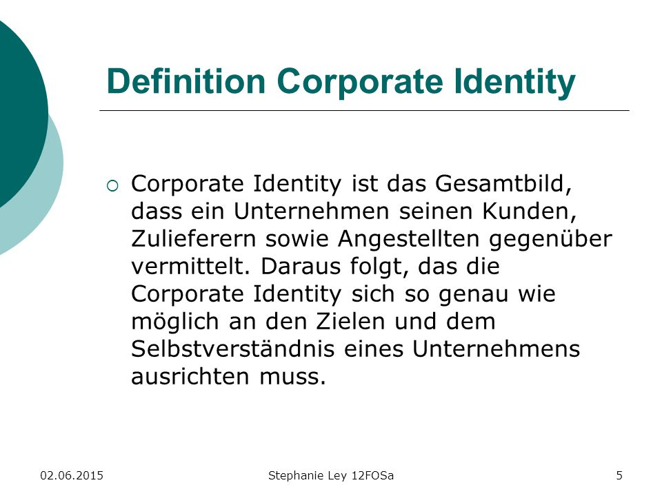 Definition Corporate Identity