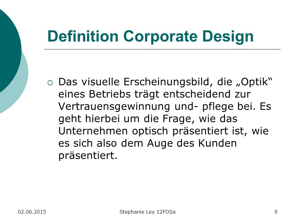 Definition Corporate Design