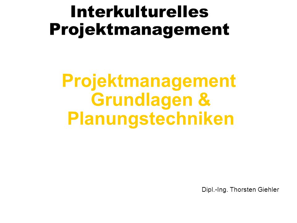 Interkulturelles Projektmanagement