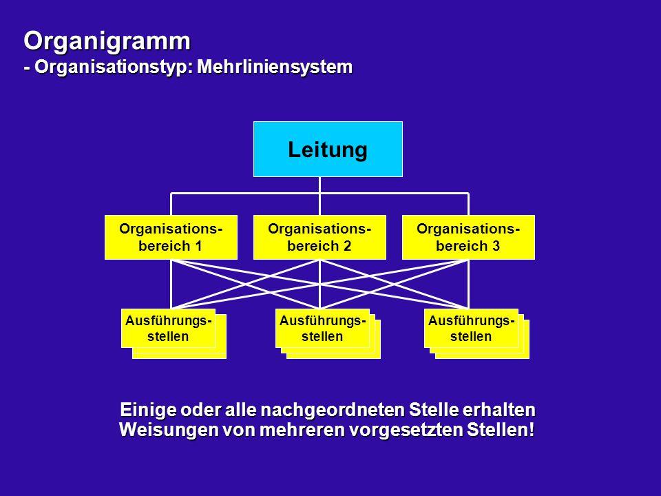 Organigramm - Organisationstyp: Mehrliniensystem