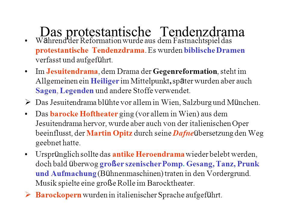Das protestantische Tendenzdrama