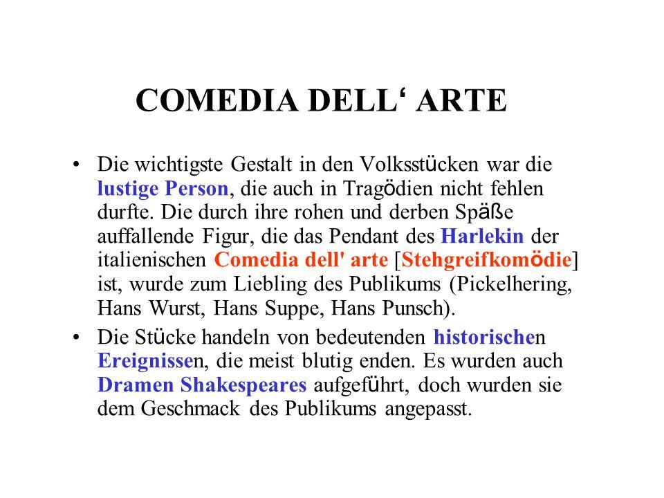 COMEDIA DELL' ARTE