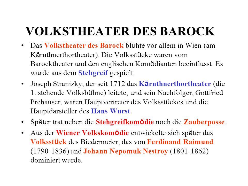 VOLKSTHEATER DES BAROCK