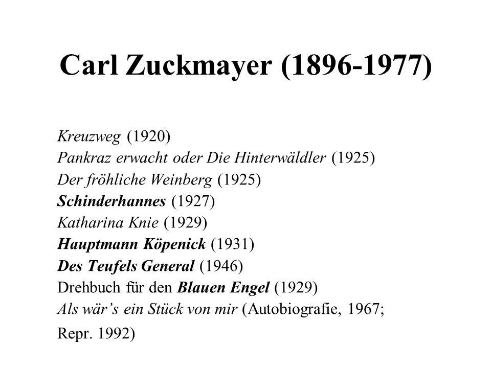 Carl Zuckmayer (1896-1977) Kreuzweg (1920)