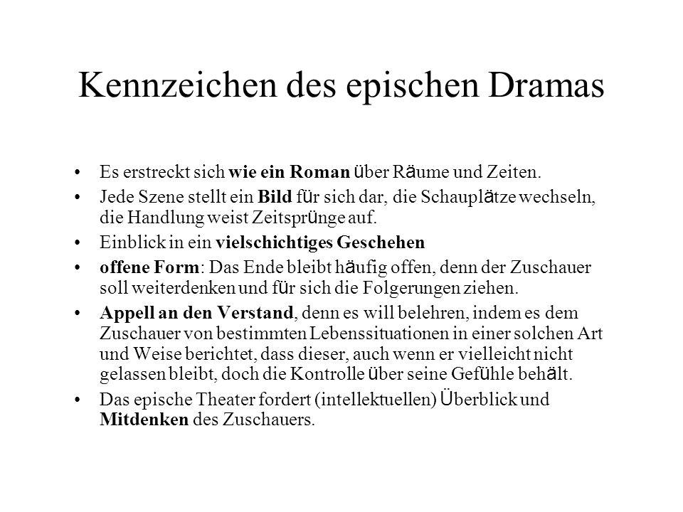 Kennzeichen des epischen Dramas