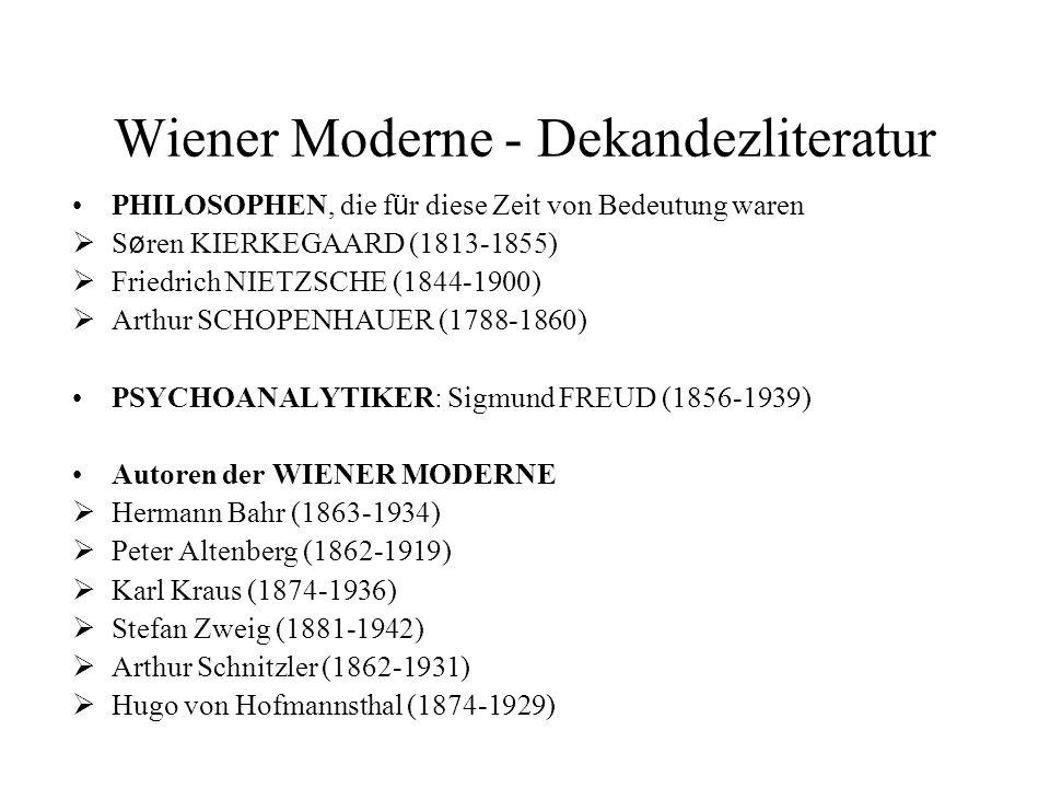 Wiener Moderne - Dekandezliteratur