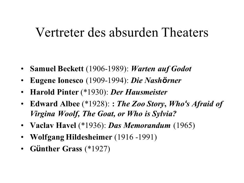 Vertreter des absurden Theaters