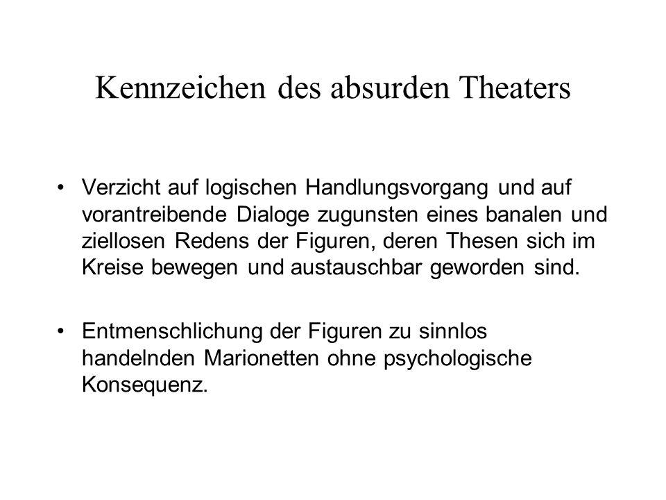 Kennzeichen des absurden Theaters